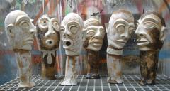 23.-2014-THE-EFFORT-OF-COMMUNICATION-Dimensions-variables-100x41x17cm-reinforced-papier-mache-natural-elements-acrylic-paint